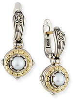 Konstantino Silver/Gold Pearl Drop Earrings