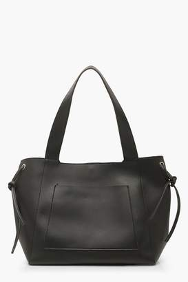 boohoo Oversized Slouch PU Day Bag