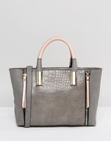 Lipsy Gray & Pink Zip Grab Bag