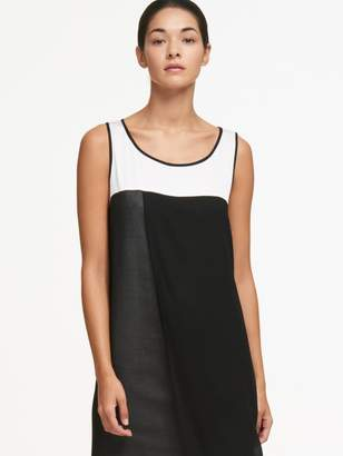 DKNY Asymmetrical Sleeveless Dress With Sheer Panel