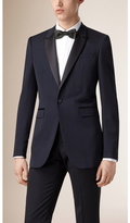 Burberry Satin Lapel Tuxedo Jacket , Size: 54, Blue