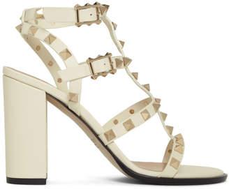 Valentino Off-White Garavani Rockstud Sandals