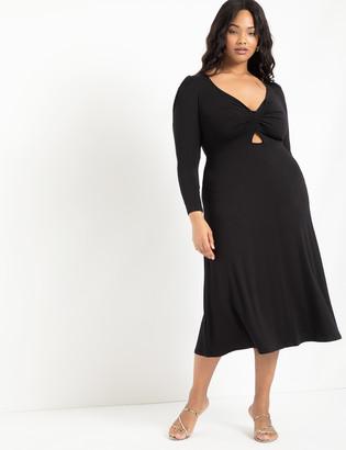 ELOQUII Twist Front A-Line Dress