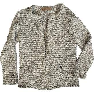 Olga Maison White Cotton Jacket for Women