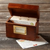 Williams-Sonoma Wood Recipe Box