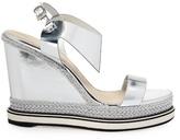 Nicholas Kirkwood Leda leather and espadrille wedge sandals