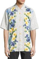 Tommy Bahama Short-Sleeve Original-Fit Silk Camp Shirt, Dusty Marina