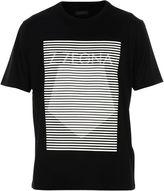 Ermenegildo Zegna Black stay Focused Print Logo T-shirt