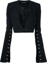 David Koma cropped jacket - women - Spandex/Elastane/Acetate/Viscose - 10