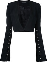 David Koma cropped jacket - women - Spandex/Elastane/Acetate/Viscose - 8