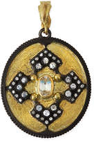 Armenta Old World Iris Shield Enhancer Pendant