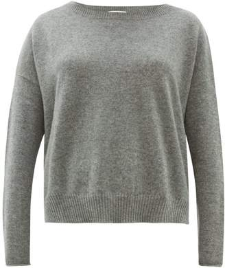 Allude Boat-neck Cashmere Sweater - Womens - Grey