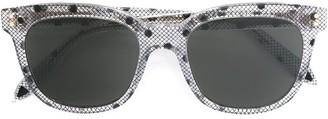 Victoria Beckham Mesh Dotted Print Sunglasses