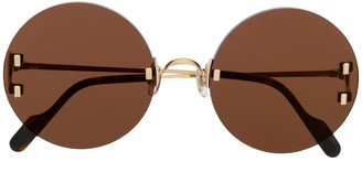 Cartier C Decor round-frame sunglasses
