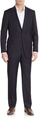 Hickey Freeman Classic Fit Tonal Striped Wool Suit