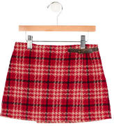 Burberry Girls' Houndstooth Wool Skirt