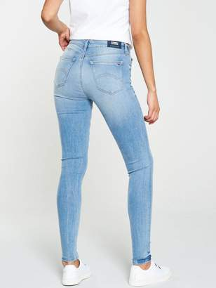 Tommy Jeans Mid Rise Nora Skinny Jeans - Mid Wash