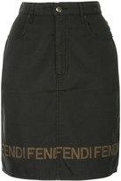 Fendi Pre Owned logo short length skirt