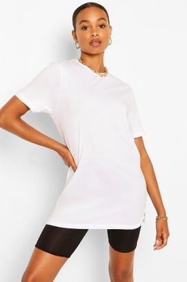 boohoo Basic Long Line T-shirt