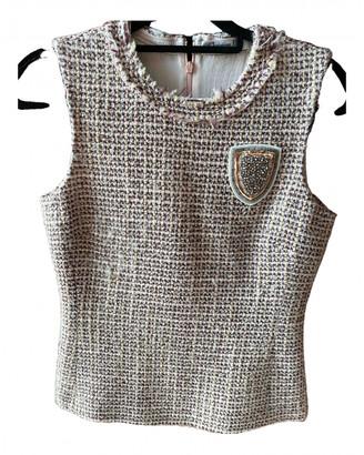Christian Dior Beige Tweed Tops