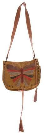 Dolce & Gabbana Embellished Suede Messenger Bag