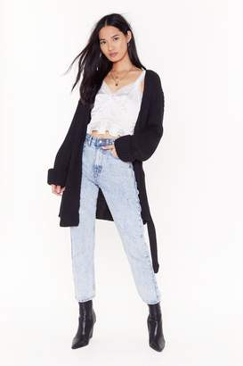 Nasty Gal Womens Turn Back the Days Knitted Belted Cardigan - black - S/M