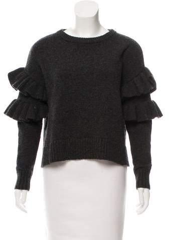 Cinq à Sept Wool-Blend Ruffled Sweater