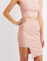 Charlotte Russe Asymmetrical Cut-Out Skirt
