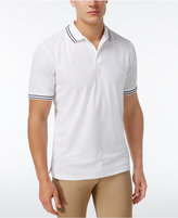 Club Room Men's Striped-Trim Cotton Polo, Only at Macy's
