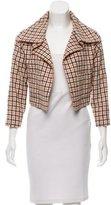 Carolina Herrera Plaid Wool Jacket