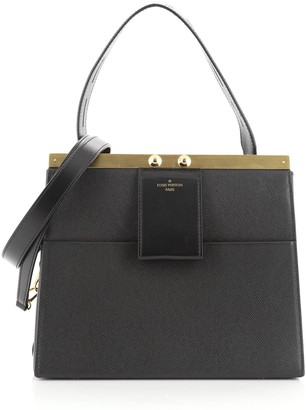 Louis Vuitton City Frame Top Handle Bag Taiga Leather
