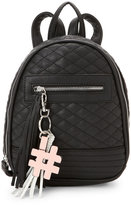 violet ray Black Alice Quilted Mini Backpack