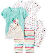 Carter's 4-Pc. Ice Cream Cotton Pajama Set, Baby Girls (0-24 months)