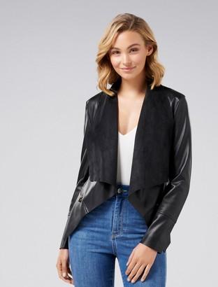 Ever New Tonya PU Leather Waterfall Jacket