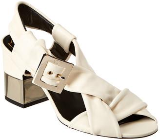 Roger Vivier Podium Leather Sandal