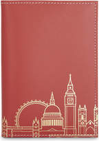 London Undercover London skyline recycled leather passport cover