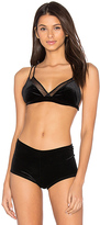 Only Hearts Velvet Underground Double Bralette in Black. - size S (also in )