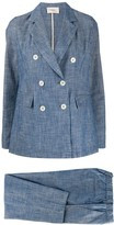 Altea chambray two-piece double-breasted suit
