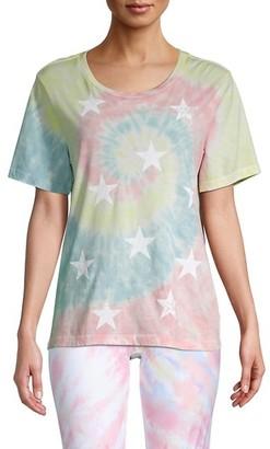 Chrldr Tie-Dye Star Graphic T-Shirt