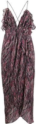 IRO abstract pattern slip dress