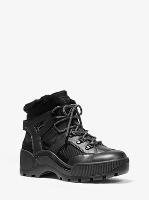 Michael Kors Brooke Leather and Scuba Boot