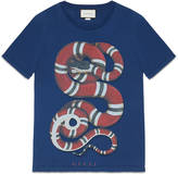 Gucci Washed t-shirt with snake print