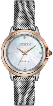 Citizen Eco-Drive Women's Ceci Diamond Accent Two-Tone Watch