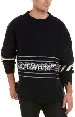 Off-White OFF WHITE Off White Dolman Wool Sweater