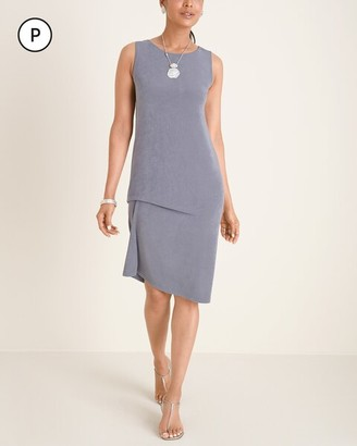 Travelers Collection Petite Drape-Front Dress