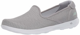 Skechers Women's GO Walk LITE-136019 Loafer Flat Gray 5.5 Medium US