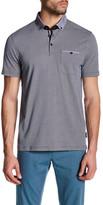 Ted Baker Short Sleeve Printed Polo Shirt