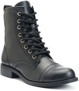 SO® Women's Lace-Up Combat Boots