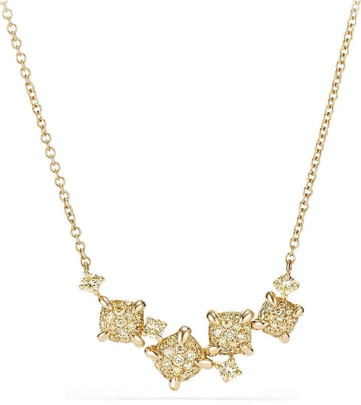 David Yurman Precious Ch'telaine Necklace with Yellow Diamonds in 18K Gold