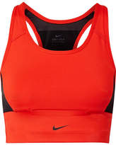 Nike Pocket Mesh-paneled Dri-fit Stretch Sports Bra - Red